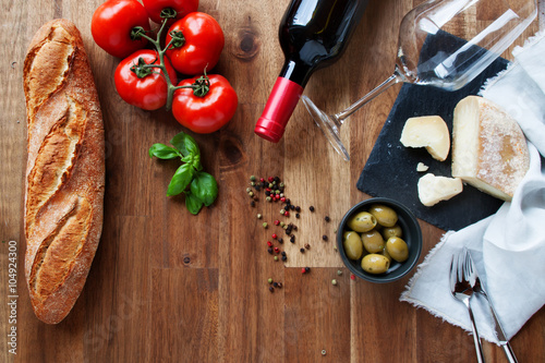 Ingredients for an Italian meal Poster