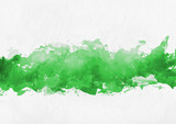 Fototapety Colorful green hand painted banner