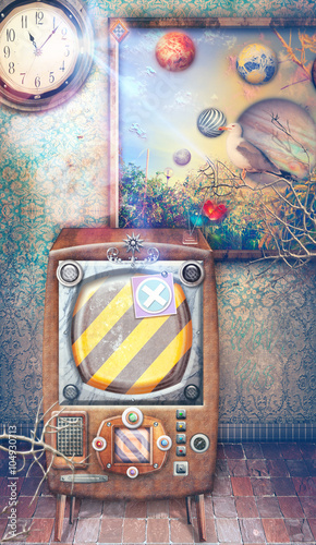 Staande foto Imagination Inside with steampunk television series
