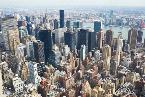 Cityscape view of Manhattan Poster