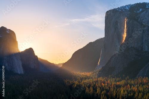 Poster Yosemite Firefall