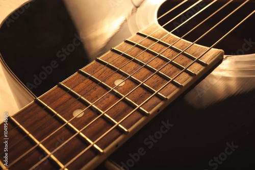 acoustic guitar close-up shot Poster