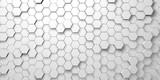 Digital hexagons background