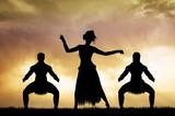 Maori dance at sunset - 105004585