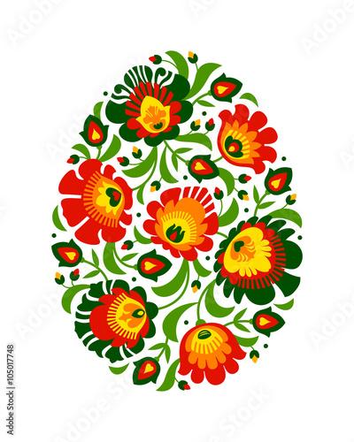 Fototapeta Polish folk inspired Easter egg