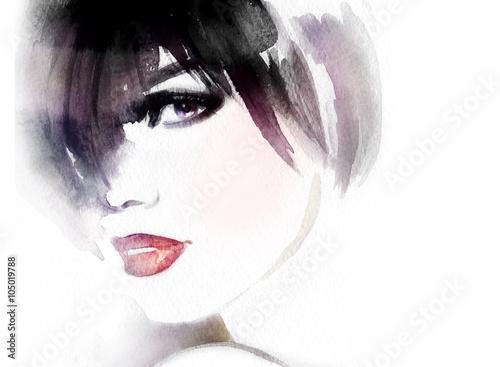 woman. abstract watercolor .fashion illustration © Anna Ismagilova