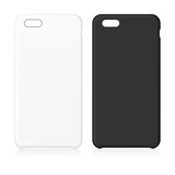 Blank phone case. Black and white Vector illustration