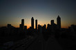 Atlanta skyline silhouette at dusk