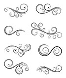 Calligraphic design elements - 105032188