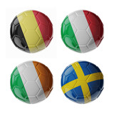 Europe 2016. Group A. Football/soccer balls