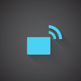 Flat Transmitter web app icon on dark background