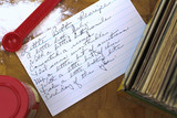 Little bitty recipe. Handwritten recipe card with a poem proverb for making people or yourself happy. - 105065725