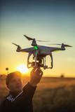Fototapety Varna, Bulgaria - June 23 ,2015: Flying drone quadcopter Dji Pha