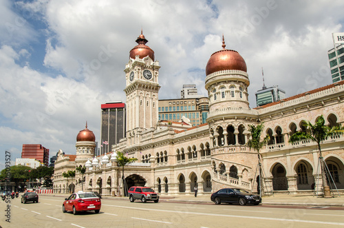 Poster Sultan Abdul Samad Building in Kuala Lumpur