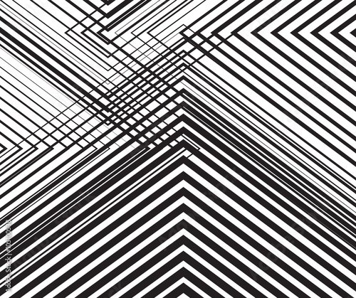 Fototapeta black and white mobious wave stripe optical abstract design