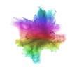 Leinwandbild Motiv Gradient colorful powder splash isolated on white background.
