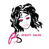 Logo Hairstyle CARD FOR BEAUTY SALON IN VECTOR WITH BEAUTIFUL GIRL