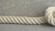 Strong rope with knot. Film clip with slow sliding motion. Symbol of strength, marine equipment and connection.