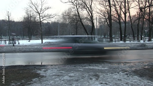 Foto op Canvas Stadion Cars in motion