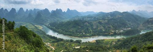 Papiers peints Guilin Karst mountains around Yangshuo
