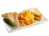 Sandwiches with French fried potatoes - 105153501