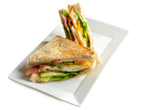 fresh and delicious classic club sandwich - 105153736