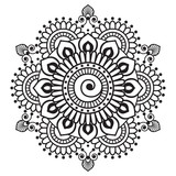Henna mehndi element for tatoo mandala in Indian style.