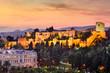 Malaga, Spain at the Alcazaba citadel.