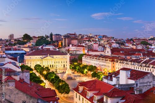 Papiers peints Bordeaux Rossio Square in Lisbon