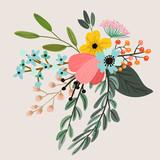 Fototapety Botanical floral bouquet