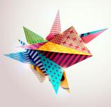 Fototapety Background of 3d geometric shapes.