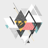 Fototapety Abstract art background with geometric elements
