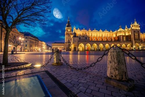 Zdjęcia na płótnie, fototapety na wymiar, obrazy na ścianę : Krakow Main Market Place