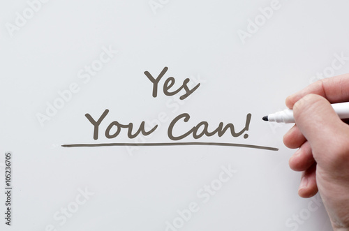 Yes you can written on whiteboard Poster