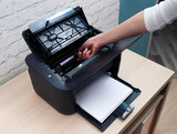 extract cartridge of  laser printer to replace