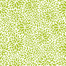 naadloze abstracte groene blad patroon, gebladerte vectorachtergrond