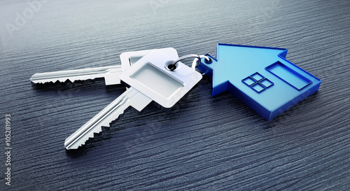 Schlüssel mit Haus-Anhänger 2