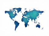 World map digital painting