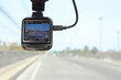 selective focus to front camera car recorder / Car DVR Vehicle - 105303197
