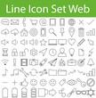 Line Icon Set Web
