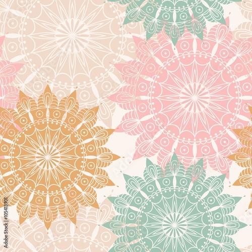 Seamless pattern with mandala. Design element for art. - 105413901