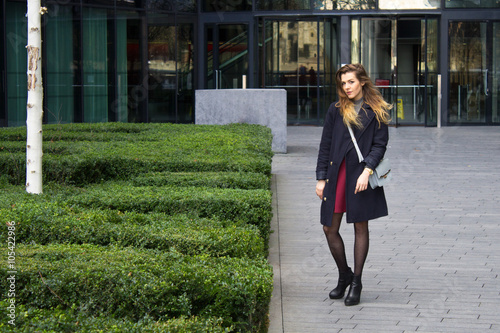 Young businesswoman in London city centre