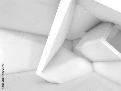 Fototapety, obrazy : White cubic structures. 3 d background
