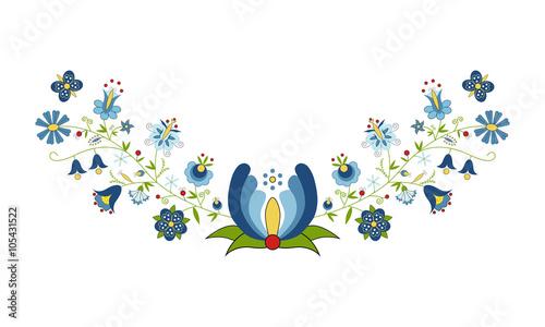 Fototapeta Polski folklor - wzór kaszubski