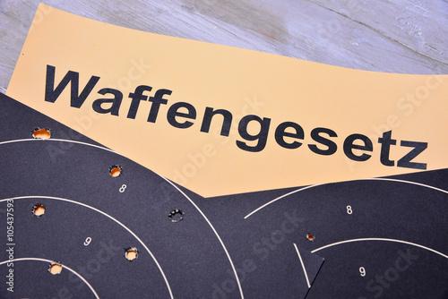 Poster Zielscheibe Waffe Ziel