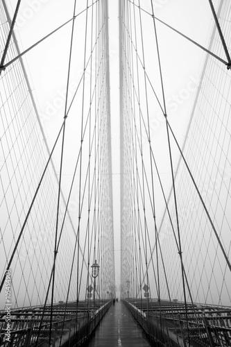 Fotobehang Brooklyn Bridge The Web