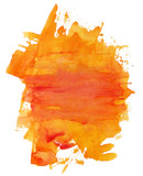Fototapety Abstract artistic bright orange watercolor background texture