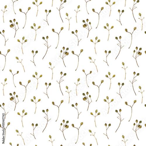 Materiał do szycia Kwiatowy wzór. Tło z gałęzi lipy.