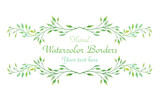 Fototapety Watercolor floral border