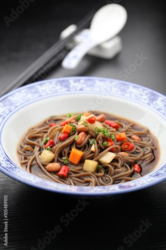 Juliste Soy sauce noodle served on a plate